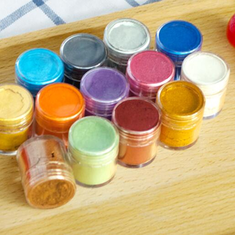 Fondant Pigment Color Food Coloring optional 5g Colorful Powder Macaron Natural Food Color Snack Chocolate Cake Baking Tools(China (Mainland))