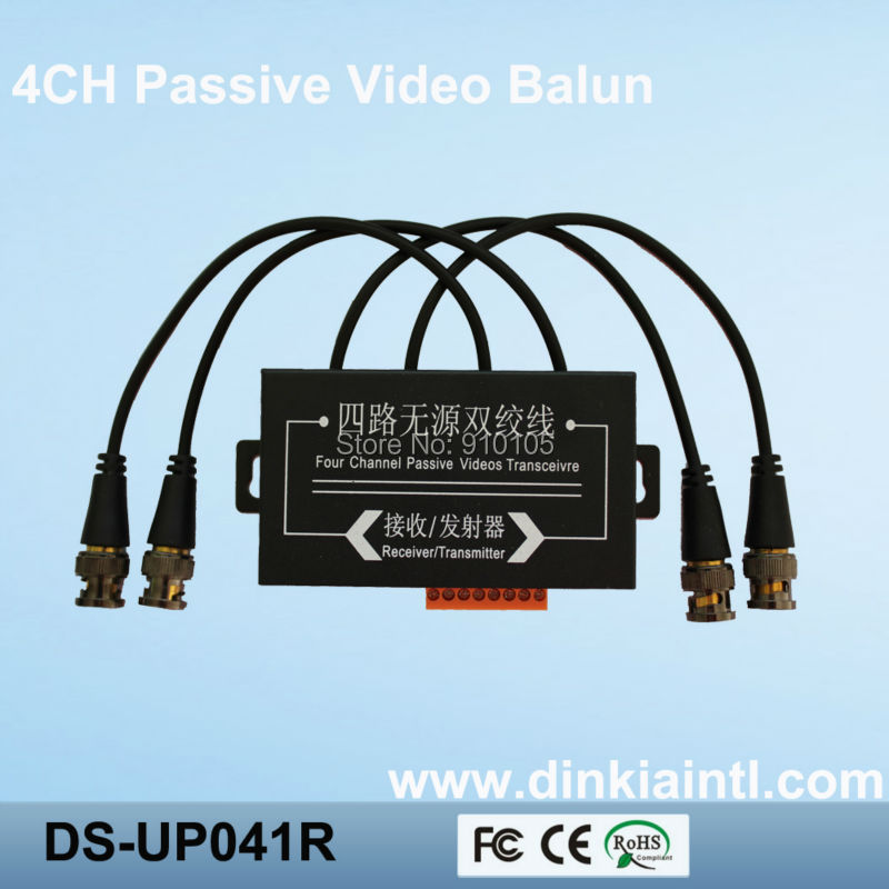 4 Channel Video Balun for CCTV 3 Years Warranty ,BNC to UTP RJ45 Transceiver,Transmission Distance:330M,DS-UP041R(Hong Kong)