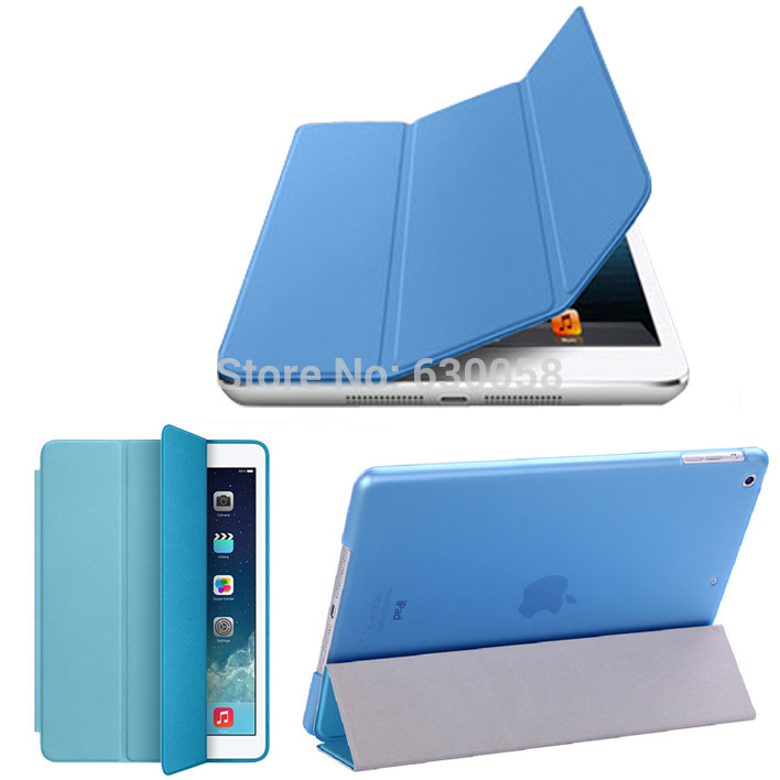 New 2014 Smart Cover For iPad mini 3 PU Leather Magnetic Cover and Hard Back Case For iPad Mini 3 1 2 Retina Case Free shipping(China (Mainland))