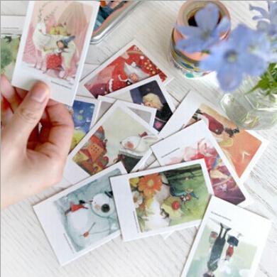 Гаджет  Creative Postcard(40pcs/set)Mr,Beard/London/Eiffel Tower/Cat/Red Bus Greeting Card with Envelope Gift Cards Wholesale   None Офисные и Школьные принадлежности