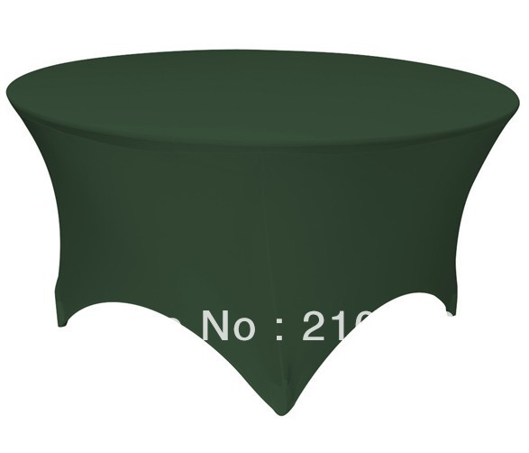Free Shipping 30pcs 5 ft. Round Stretch Table cover spandex table covers wedding linens for sale(China (Mainland))