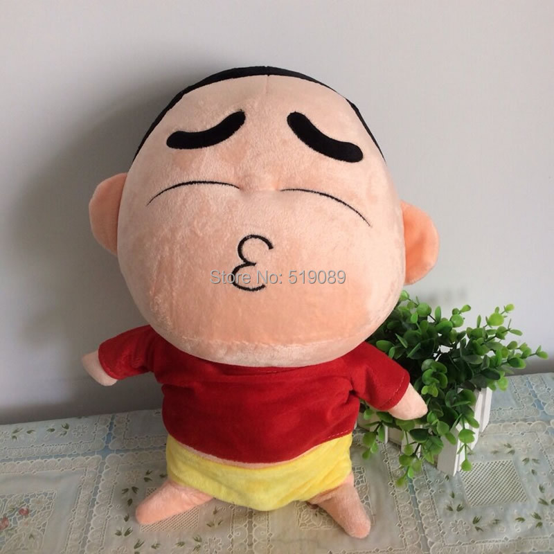 """46cm(18"""") Naughty Crayon Shin Chan Stuffed Plush Doll Japanese Anime Shin-chan Action Figure peluches juguetes For Best Gift(China (Mainland))"""