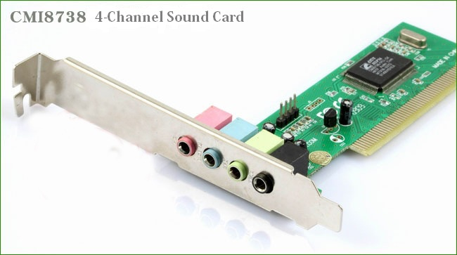 mini PCI Sound Card CMI8738 3D 4.1 4-channel Audio Channel Replace Desktop PC On-board Sound Card(China (Mainland))