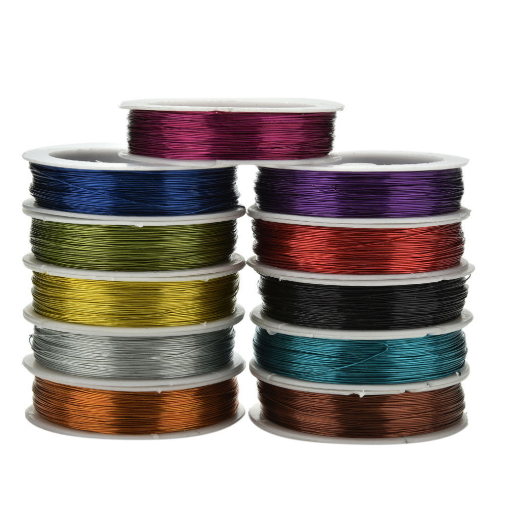 40M Iron Craft Wire 0.5mm DIY metallic thread string beads rope beading craft wire fit Jewelry Marking Essential Jewelry Cord(China (Mainland))