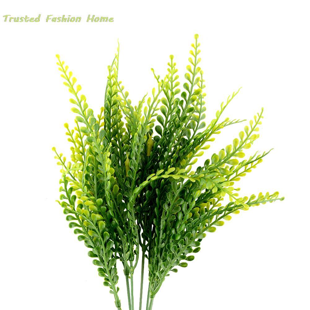 1 pcs dcoratif herbes fleurs artificielles dcoration simulation plante vert jardin de mariage dcoration livraison gratuite - Bon De Reduction Decoration De Mariage