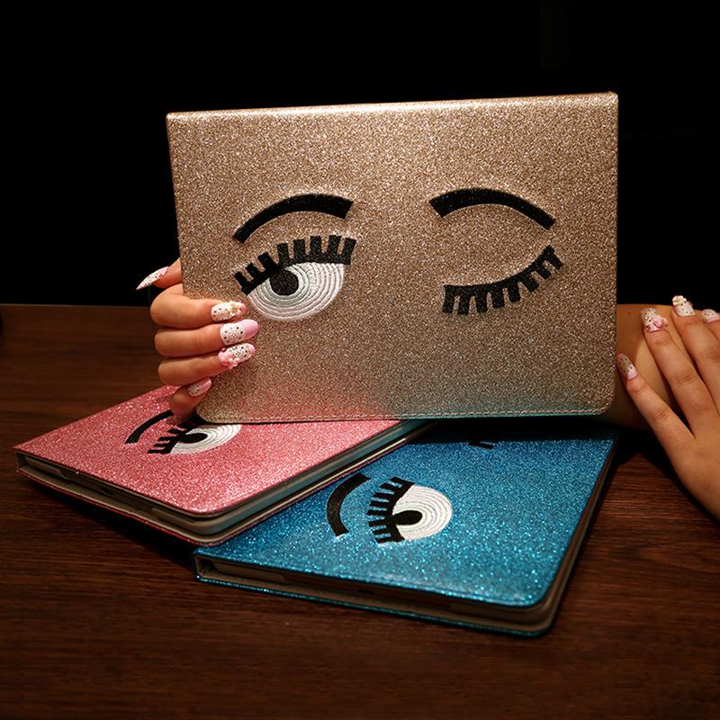 Smart Case For Apple iPad Mini 123 Glitter Shining Big Eyes Design protection Case For iPad Mini 1 2 3 Wake up/Sleep Function(China (Mainland))