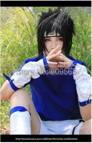 Free shipping! Naruto Akatsuki Uchiha Sasuke HOKAGE Cosplay Costume ,Perfect Custom For you!(China (Mainland))