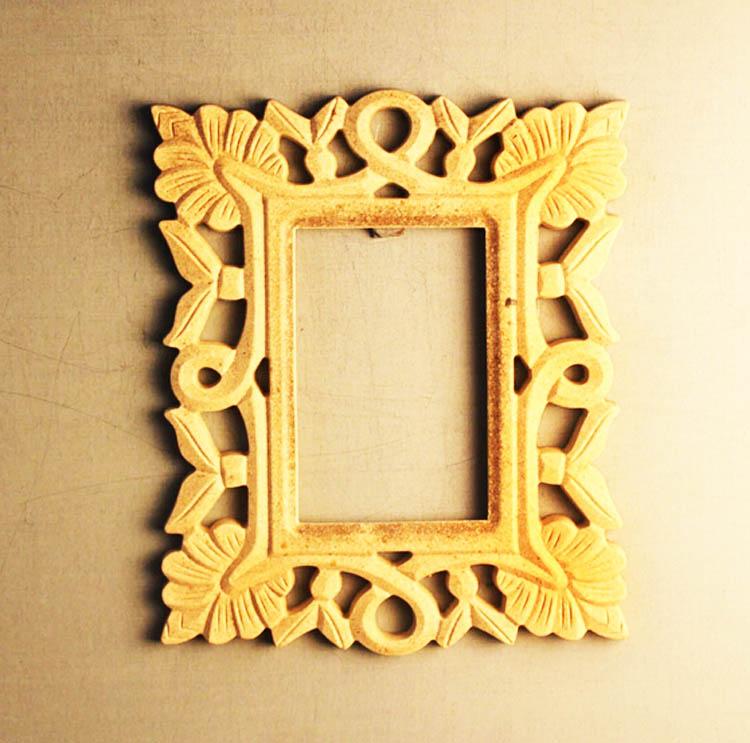 Diy wood craft carving unfinished floral pierced border for Unfinished wood frames for crafts