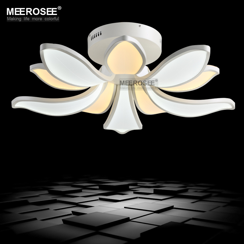 Sunflower Shape LED Unique Chandeliers White Acrylic LED Lighting for Ceiling Bedroom Kitchen Light Fixture 2 Lamp Color Coexist<br><br>Aliexpress