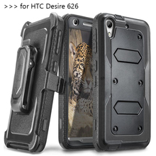 Heavy Duty Rugged Anti-strike and Shockproof Armor Phone CASE for HTC Desire 626 626W 626D 626S 626G 626G+ Cover with belt clip(China (Mainland))