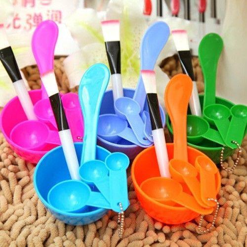 Beauty 6 in 1 DIY Facial Mask Bowl Brush Spoon Set Face Care Makeup Tool Hot(China (Mainland))