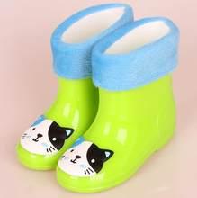 2018New Bahar lastik çizmeler Çocuk Botları Kız Erkek Çocuklar Karikatür Yağmur Çizmeleri Şeker Renk Antiskid yağmur botu Su Geçirmez Ayakkabı(China)