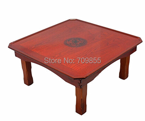 Korean Folding Table Square 55*55CM Asian Antique Furniture Korean Style Traditional Tea Table For Dinner Living Room Wood Table(China (Mainland))