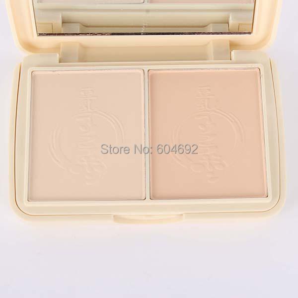 Makeup Compact Pressed Powder 2 Layers Skin Facial Mineral Foundation Set(Hong Kong)