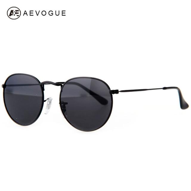 Aevogue бесплатная доставка бренд старинные мужчины металлический каркас светоотражающие объектив солнцезащитные очки óculos UV400 AE0212