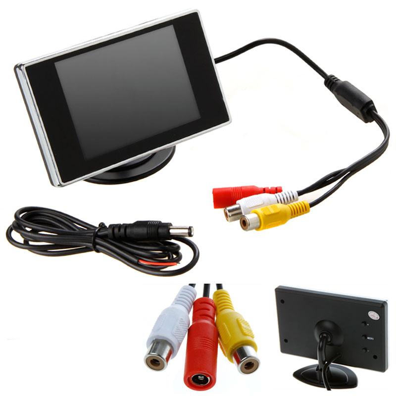 """Universal 3.5"""" Car LCD Monitor Auto Car Rear View Camera Display Digital Video Recorder Rearview Camera Mirror Monitor(China (Mainland))"""