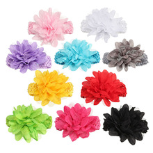 fascinator bebe menina flower Headbands baby headband girls headwear newborn toddler hair band