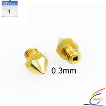 Good Quality 1PCS Reprap Prusa i3 3D Printer ualit 0.3mm Extruder Print Head for MK8 Extruder 1.75mm ABS PLA Printer