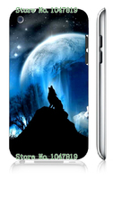 Mobile Phone Case Retail 1pc wolf Protective White Hard Case Cover For Ipod Touch 4 4th Free Shipping