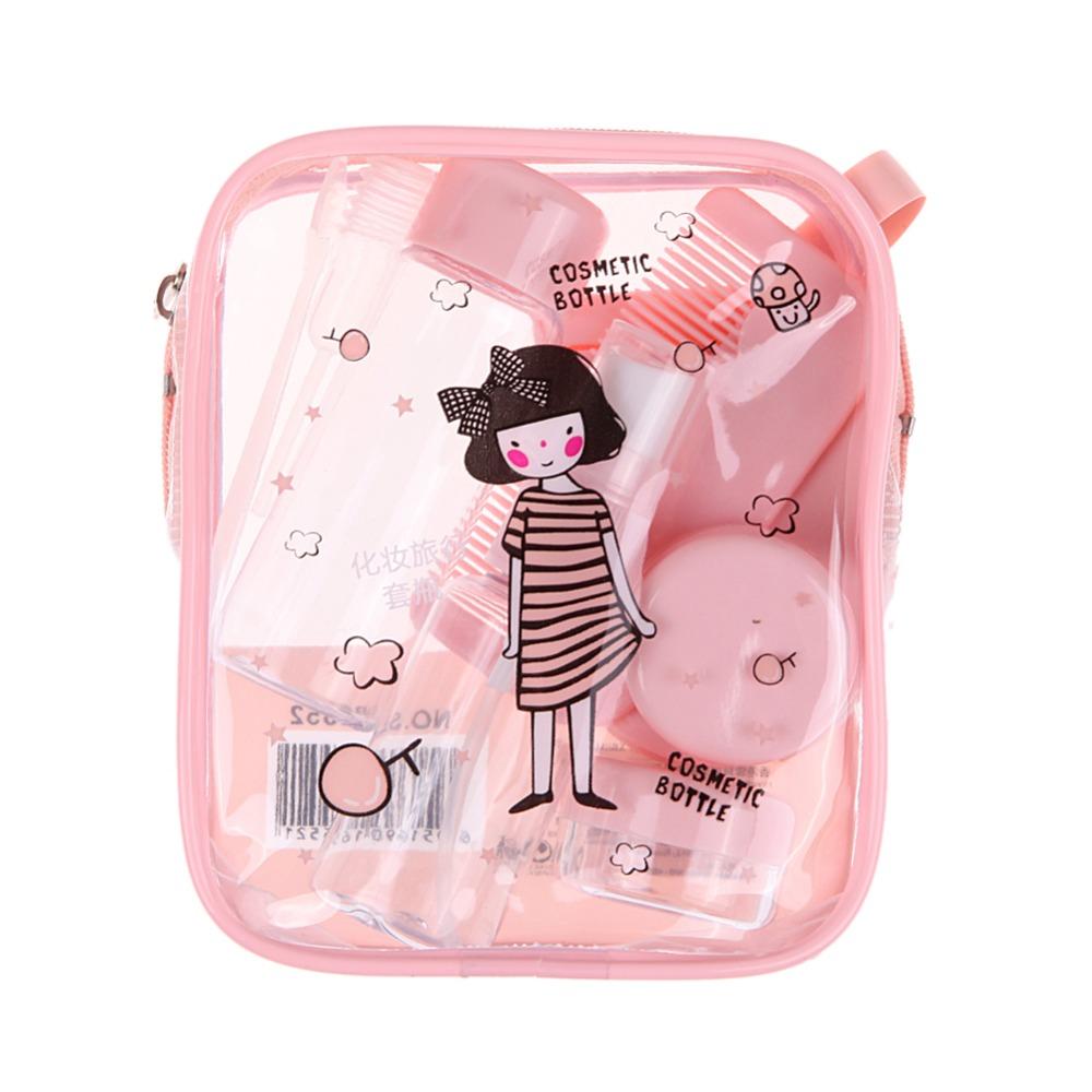 Pink Portable Perfume Atomizer Sprayer Bottle Travel Cosmetics Bottle Suit Empty Plastic Sprayer Bottle(China (Mainland))