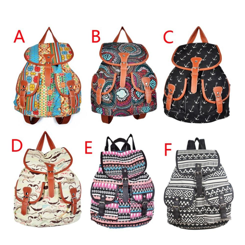 Lady Ethnic Style Bookbag Travel Rucksack School Bag Satchel Canvas Backpack S5Q - Feedback(858 store| Orders (1506))