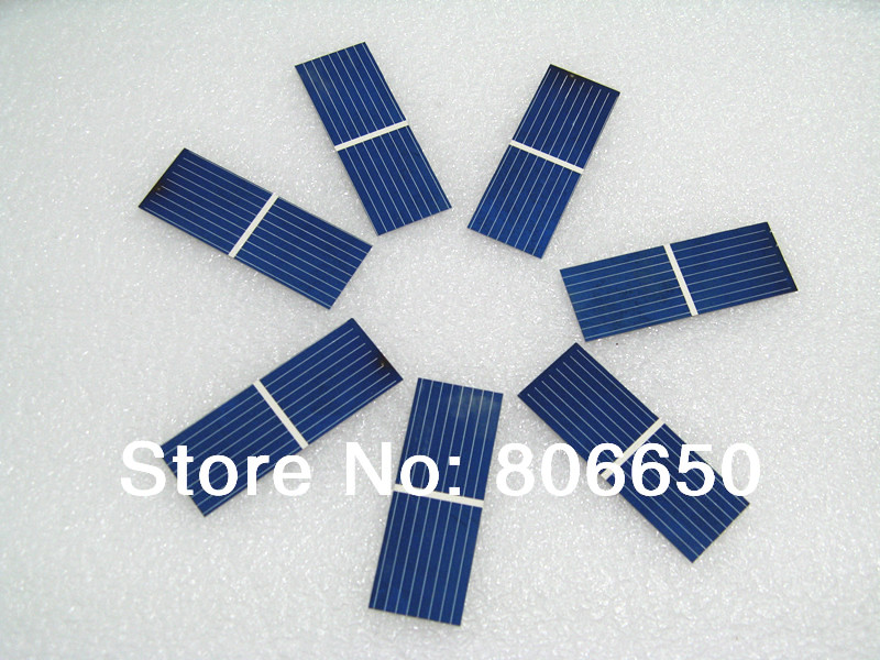 100 pcs 17.6% efficiency 52x19mm solar cell, poly crystalline solar panel DIY for 10w soalr panel Kit#(China (Mainland))