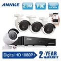 ANNKE 4CH 1080P CCTV System POE NVR 1080P Video Output 4PCS 1500TVL 2 0 mp CCTV