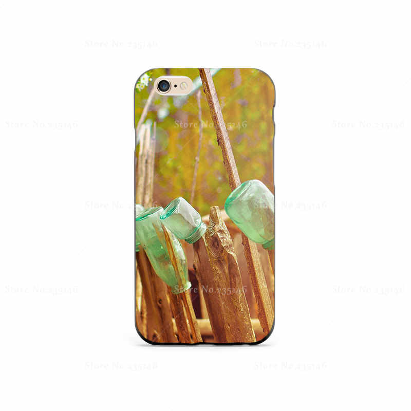 wood art bottles glass Plastic Protective Shell Skin Bag Case Case For iPhone4s 5s 5c 6plus 6Splus 5.5 Cases Hard Back Cover(China (Mainland))