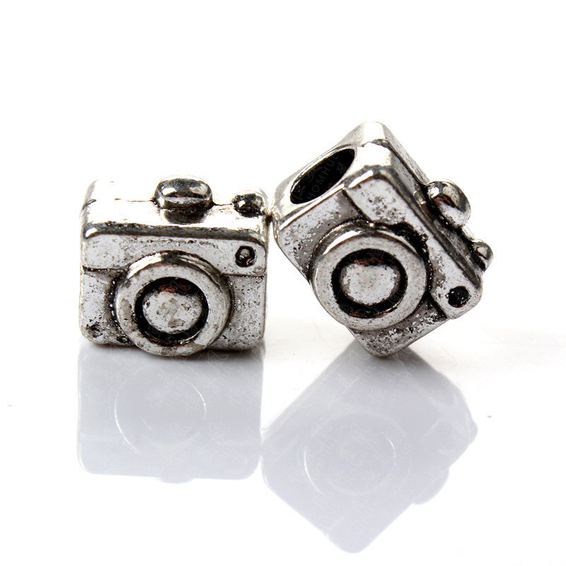 Wholesale DIY Beads Jewelry Silver Big Hole Loose Ancient European Camera Style Charms Bead Fit Bracelets BIAGI Pandora Pendant(China (Mainland))