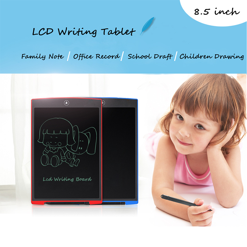"5pcs 8.5"" Inch Mini LCD Writing Tablet Good eWriter for Children Drawing and Writing Free Shipping"