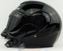 Motorcycle helmet half face helmet double lens uncovering personality(China (Mainland))
