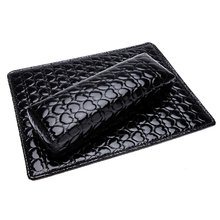 5 sets of  Soft Hand Cushion Pillow And Pad Rest Nail Art Arm Rest Holder Manicure Nail Art Accessories PU Leather Black(China (Mainland))