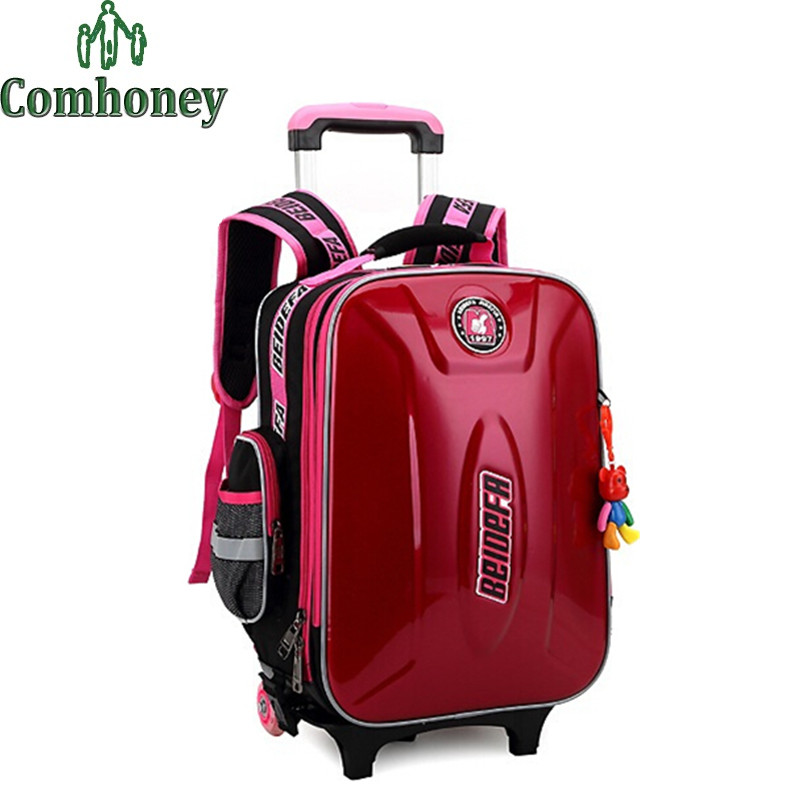 Kids Luggage Bags Removable Waterproof Hardside Luggage with Wheels Children's Travel Suitcase on Wheels Boys Girls Luggage Bag(China (Mainland))