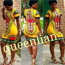 ( Größe: s- XL) 2015 neue mode sommer sexy succunct african tranditional drucken dashiki kleid für die dame(China (Mainland))