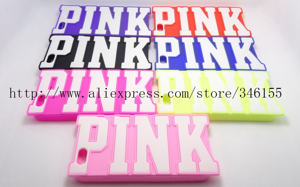 Love Victoria/'s Secret PINK 3D Letters Candy Colors Soft Silicone Case Cover Apple iphone 6 Skin Back Protective Cases - Shen zhen HW (3C store Digital Accessories Company)