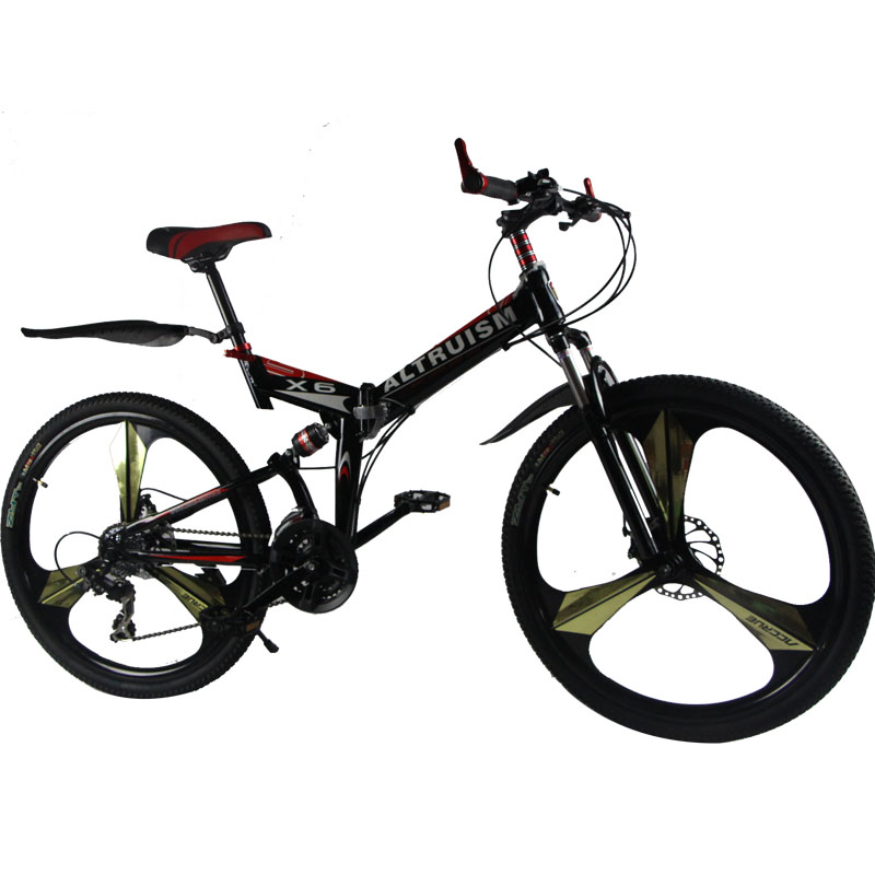 Altruism X6 24 speed Aluminum mountain bike 26 inch disc brake road bike bicycle fashion racing suspension bicycles(China (Mainland))