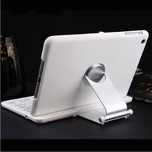 Brand Portable Slim Mute Swivel Flip Stand Wireless Bluetooth Keyboard Smart Covers For Apple ipad mini 1/2 Retina ipad 2 3 4(China (Mainland))