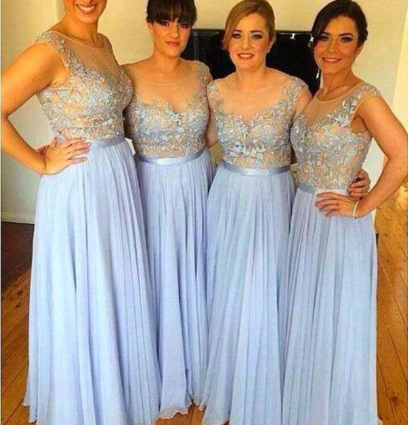 2016 cheap bridesmaid dresses light sky blue charming
