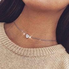 Bohème lune étoile cristal coeur collier ras du cou pour les femmes collier pendentif sur cou Chocker collier bijoux cadeau(China)