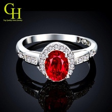 Luxury Ruby Jewelry 925 sterling silver rings for women CZ Diamond wedding rings anel feminino aneis anillos de plata anelli