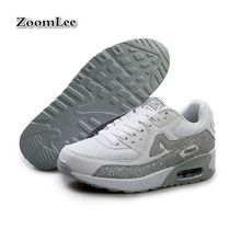 2016 Fashion Men And Women Casual Shoes Flat Gym Trainer Mesh Breathable Air Cushion Leather Jogging Brand Shoes Plus Size 35-46