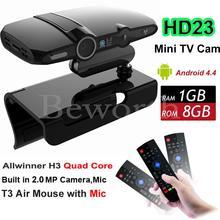 Android TV BOX Cámara Allwinner H3 Quad Core 1G 8G HD23 EU3000 Smart Mini PC WIFI Google IPTV XBMC Skype VS A95X M8S Plus X96