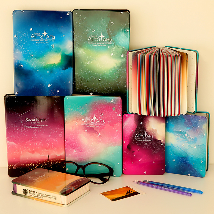 2016 new cute korea stationery office supplies vintage metal hardcover notebooks