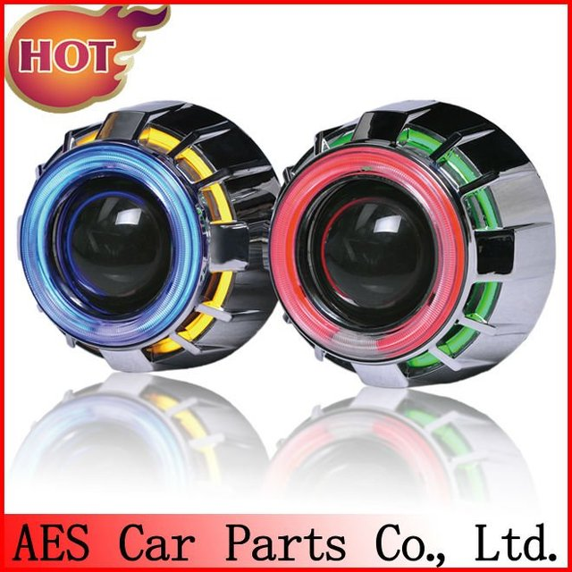 AES  HID Bi-xenon projector lens type H1 ( double angel eyes ),with bulb and harness