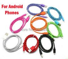 100 см 3ft плетеный Micro usb 5 контакт. зарядное устройство нейлоновая синхронизации данных проволока для Samsung S6 S4 S3 примечание 2 XiaoMi Lenovo MeiZu HTC