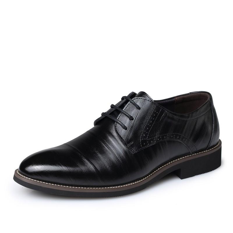 Натуральная кожа мужчины оксфорды весенние / мужчины свободного покроя плоские, Дышащий бизнес, Ручной работы новинка туфли