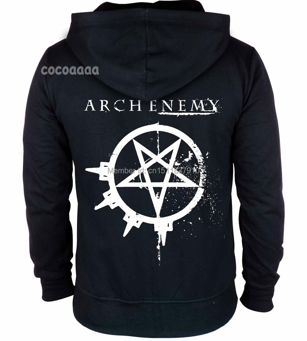 14 kinds Sweden Arch Enemy Zipper Rock hoodies winter ...