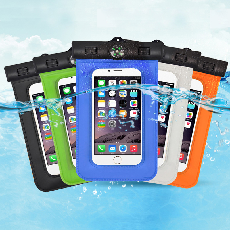 2016 Universal Waterproof Diving Bag Case Cover For Samsung Galaxy Waterproof Pouch Bag For Xiaomi/HuaWei/LG All Smart Phone 5.8(China (Mainland))