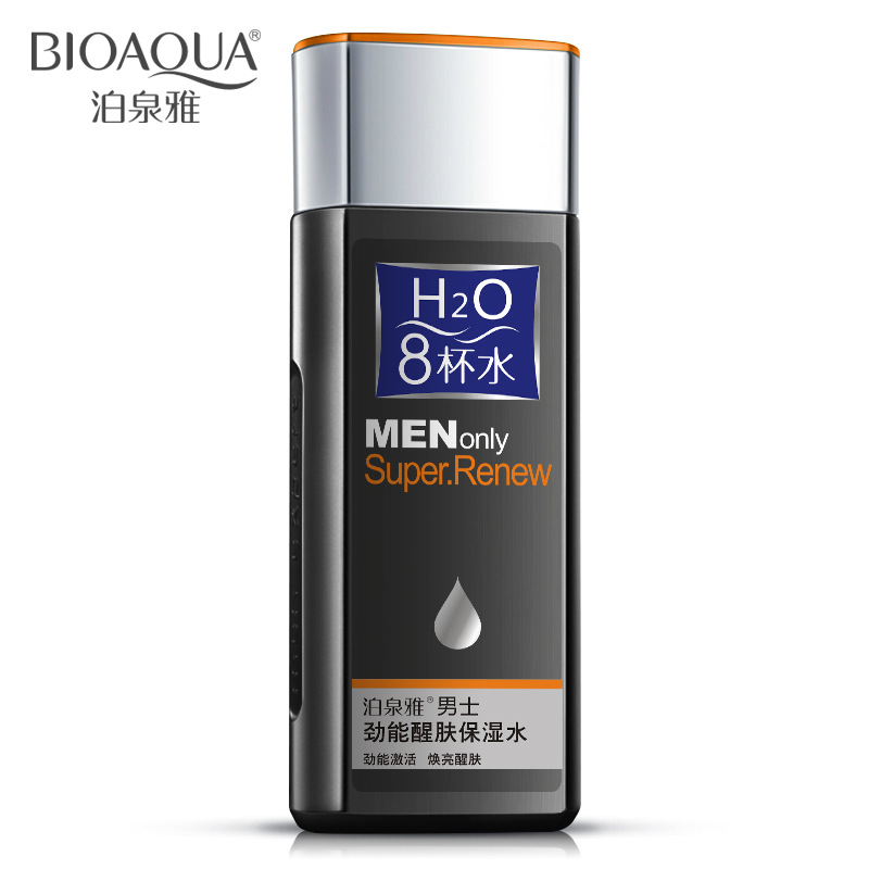 130ml 8 Glasses Water Natural Men's Skin Care Face Lotion Moisturzing Oil Balance Brighten Pores Aftershave Toner for Man PY531(China (Mainland))