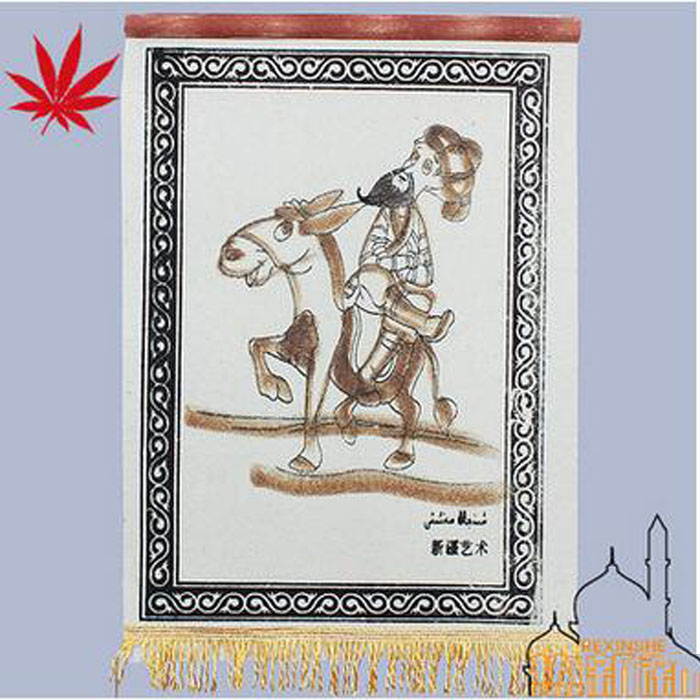 China customs manual artistic tapestry living hanging mural baize tapestries hotel adornment that hang a picture 52cm*35cm